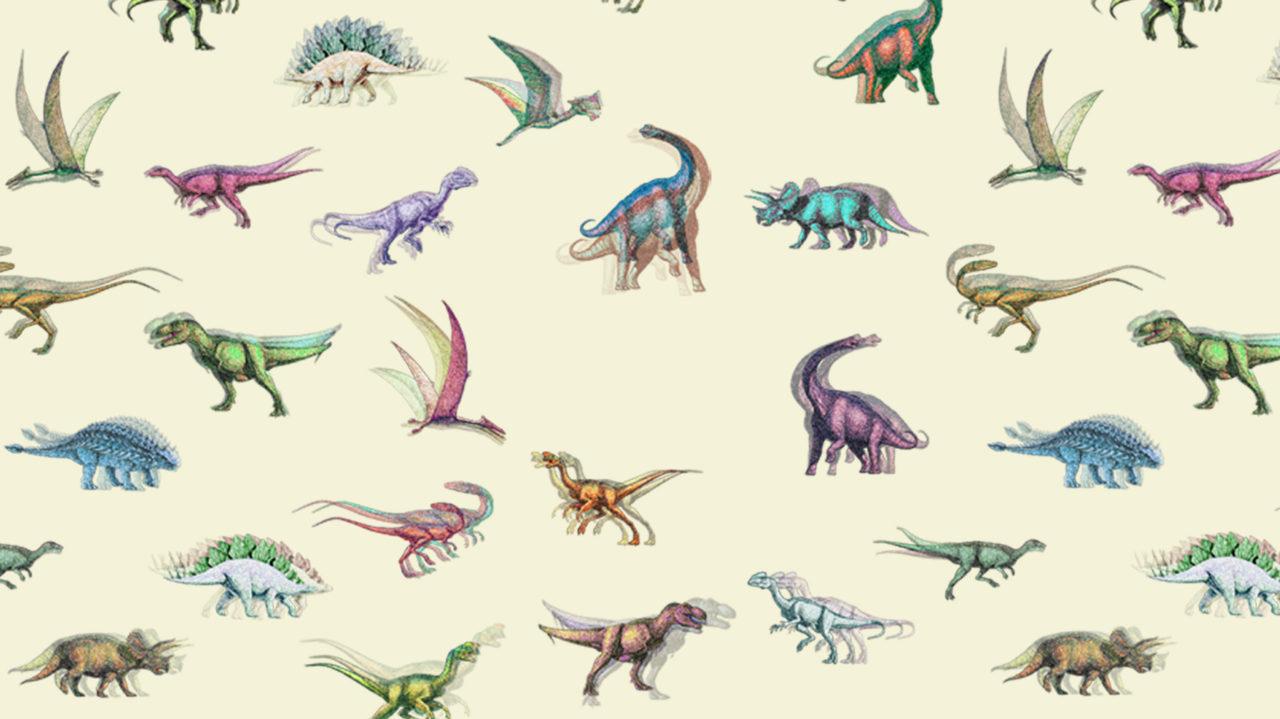 diseño de estampado de dinosaurios